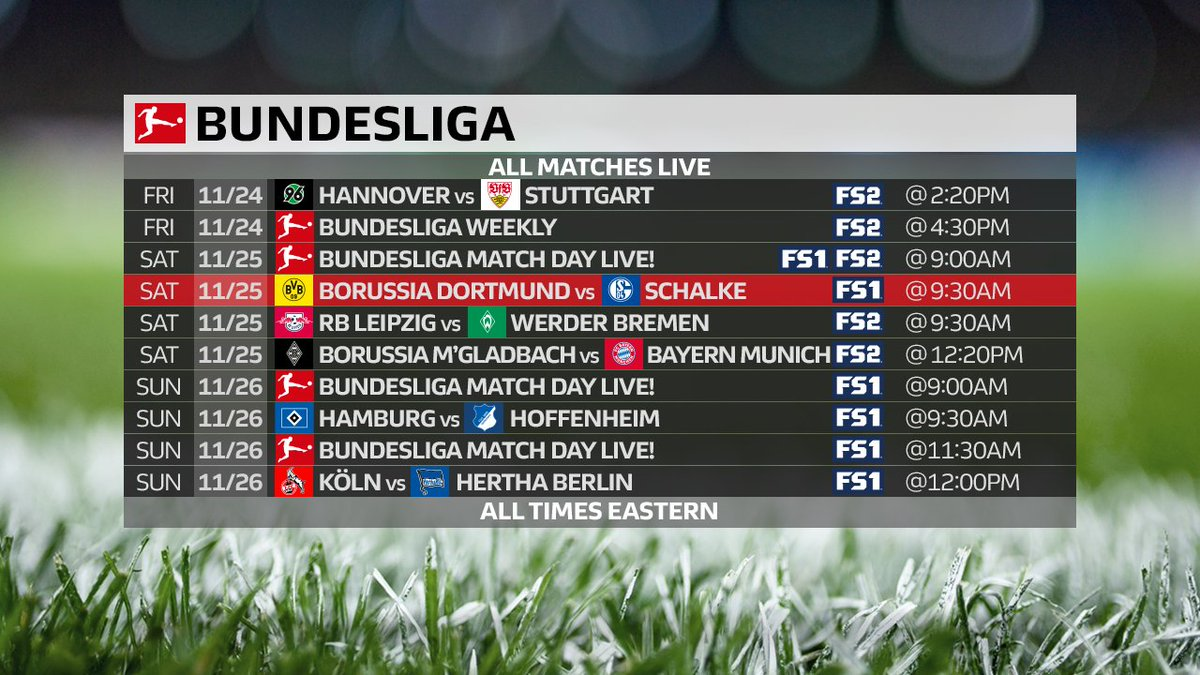 Matchday 13 kicks off in under an hour, and it's gonna be a good one.   👀 Revierderby tomorrow! https://t.co/8lk1fA3rOK