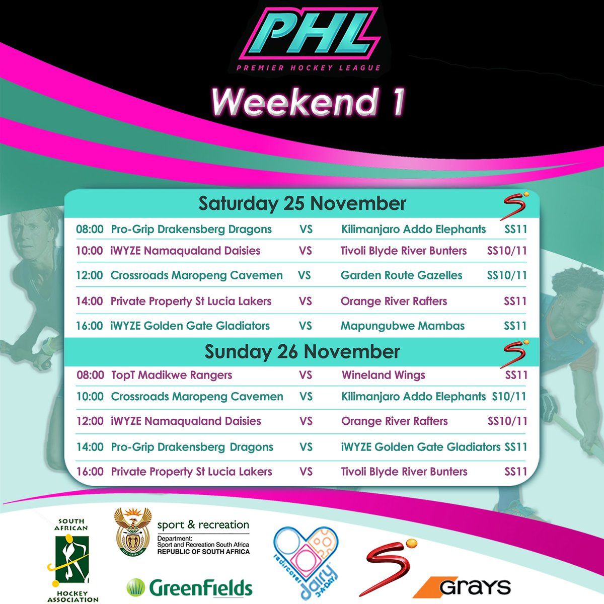 Are you ready for #PHL17?! The action kicks off tomorrow at 8am. If you can't get down to Randburg, make sure you tune in to SuperSport for all of tomorrows games 💪🏼 https://t.co/Xi28x8DS8z