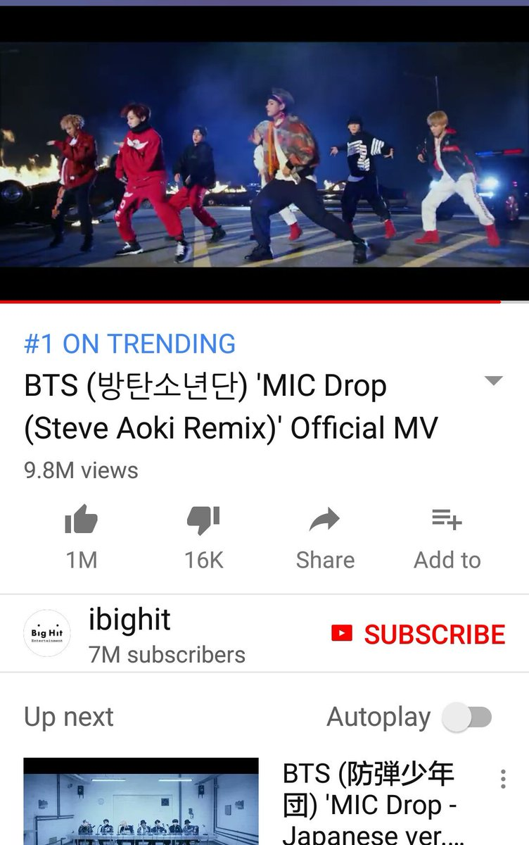 Trending No.1 in S&#39;pore @BTS_twt  #MicDropRemix @steveaoki and those that are able to can listen to the version with @LifeOfDesiigner on #Spotify both are  <br>http://pic.twitter.com/RVe1OxrnHx