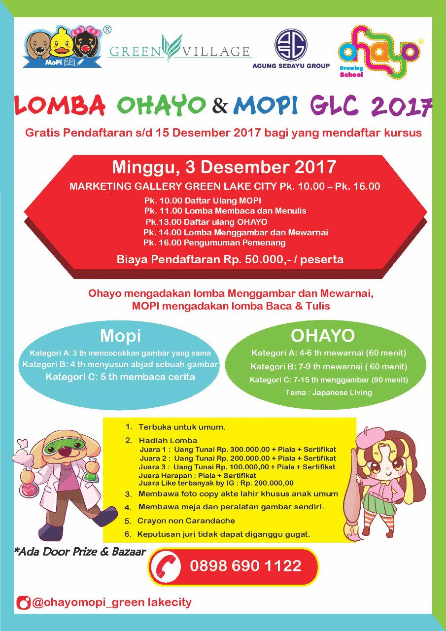 Ohayo Drawing School On Twitter Lomba Ohayo Green Lake City