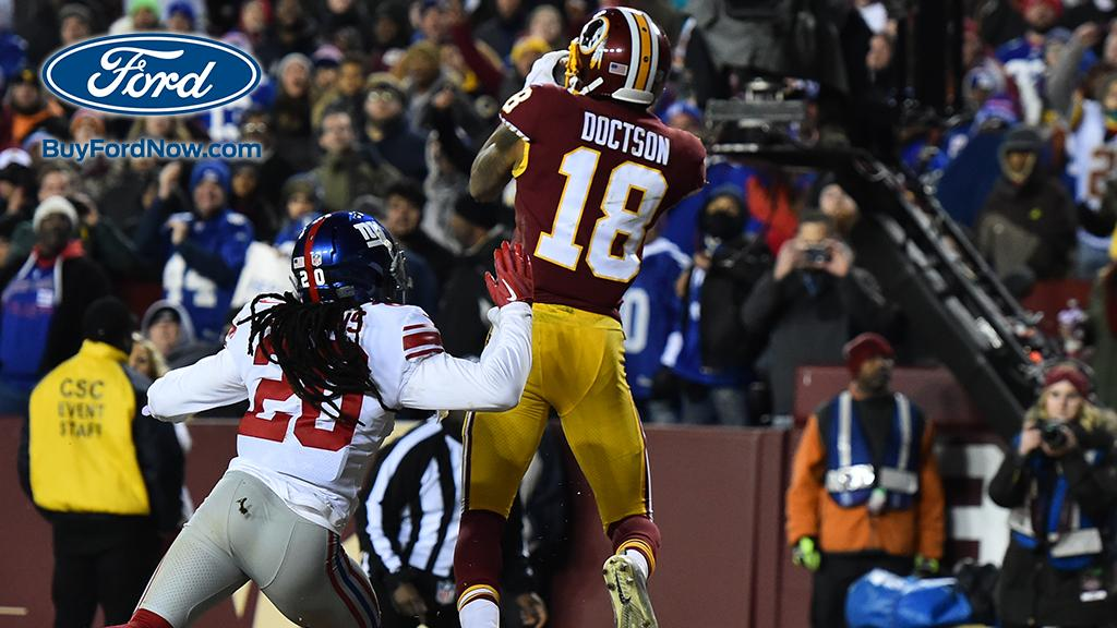 Eight plays. 60 yards. Josh Doctson TD. Lead. #HTTR  #NYGvsWAS Ford Drive of the Game: https://t.co/4SD3uK63rh
