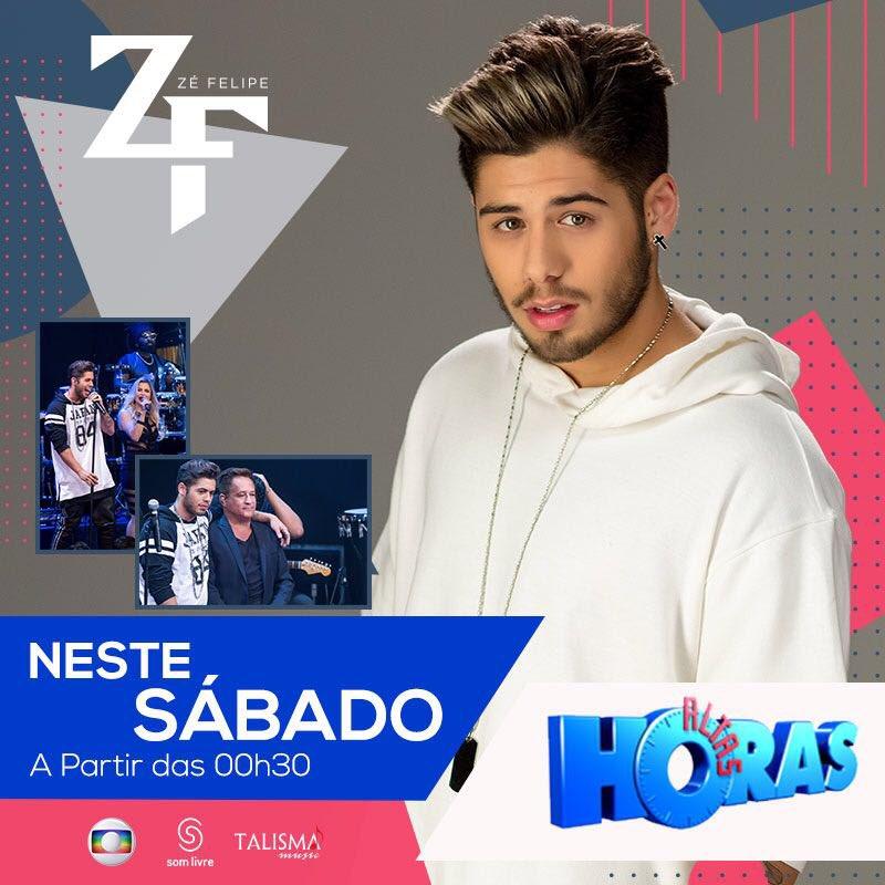 Neste sábado tem @zefelipecantor e #Leonardo no @altashoras! Todo mundo ligado! #ZéFelipe #AltasHoras