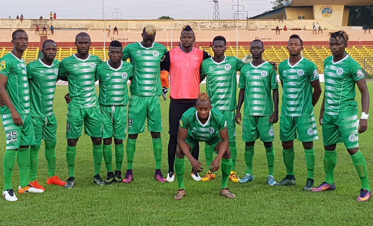Le onze entrant du Hafia FC à l'occasion du match de la 4e  journée de de la ligue 1 Pro face au Satellite FC