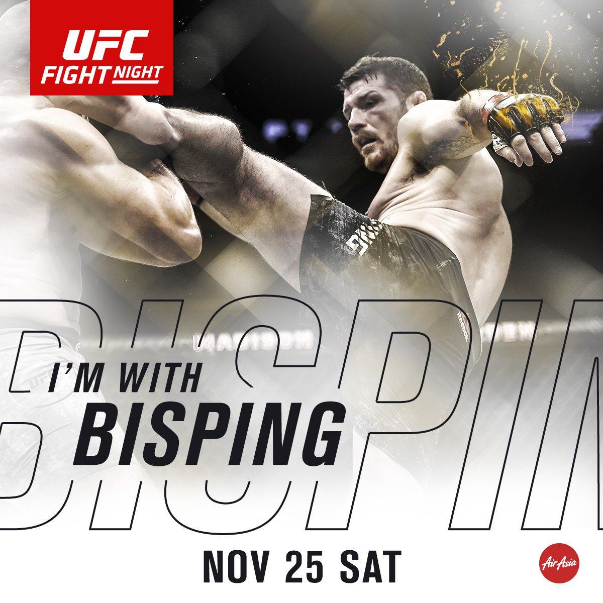 RT @ufc: RT if you're w/ @Bisping | Saturday, Nov. 25 at 7amET | LIVE on @UFCFightPass | #UFCShanghai https://t.co/hxygQMduVU