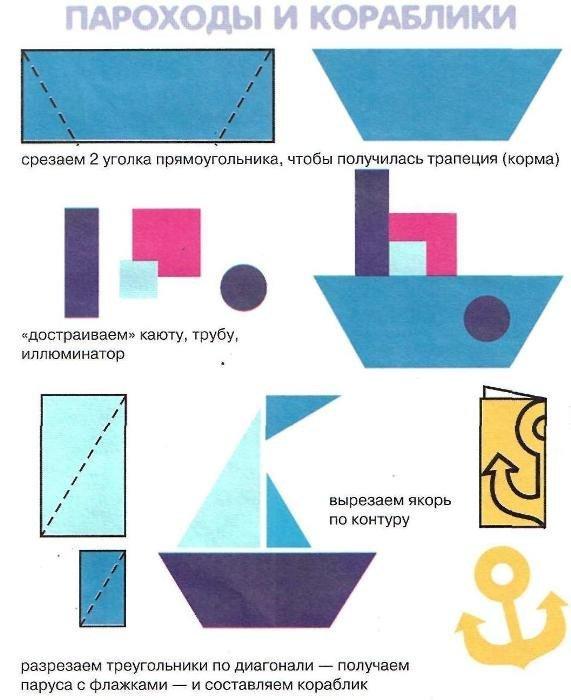 Рисунки для аппликации крупой
