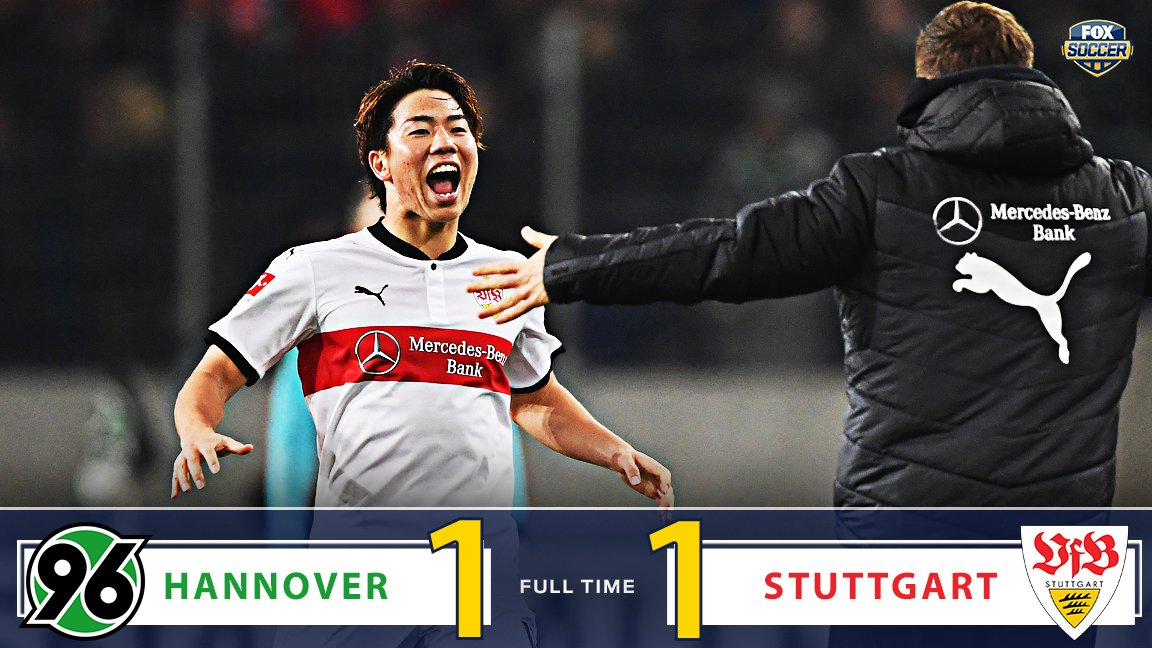 Hannover and Stuttgart split the points to open Matchday 13!  It's the first road point for Stuttgart this season. https://t.co/xcuZdjLSuu