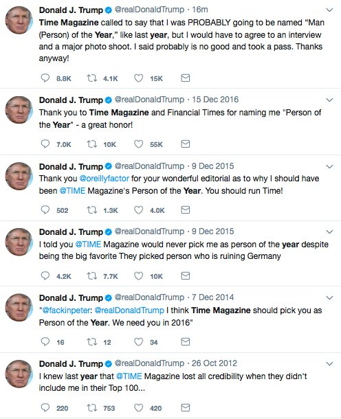 RT @adamjwhitedc: He gets worked up over Time Magazine's Man of the Year Award almost every year. Like clockwork. https://t.co/27TnDTguAD
