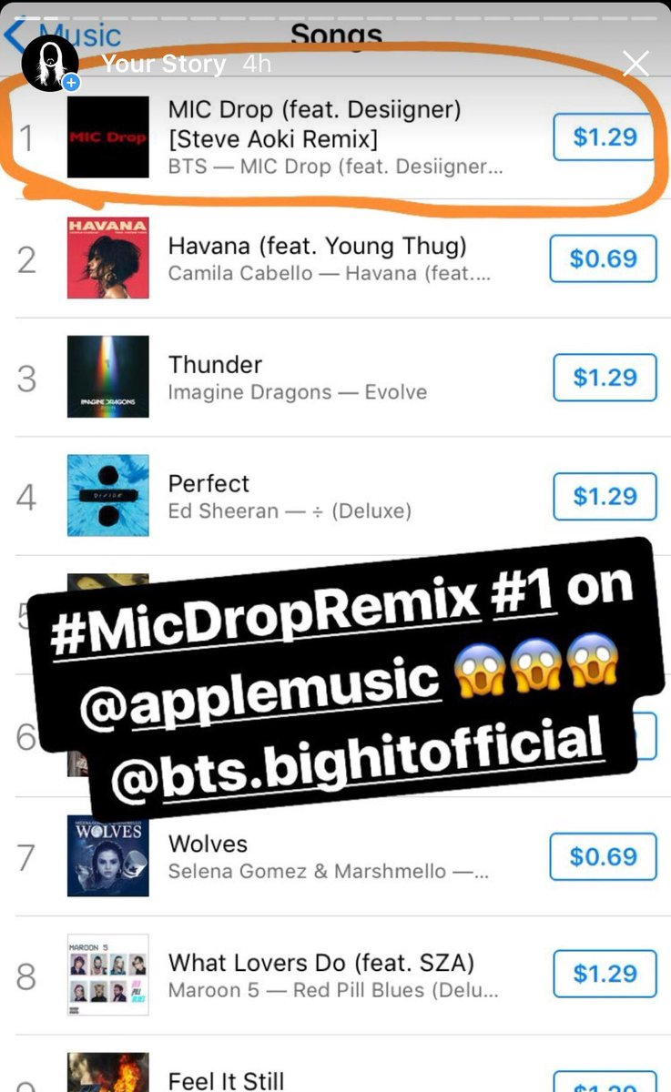 My first #1 on ITunes Overall. Thanks to the boys @BTS_twt for believing in me on the #micdropremix!! Shout out to @LifeOfDesiigner for amping the song up and the biggest thanks goes to all the fans that made this a numba one!!!! 🙏🏼🙏🏼🙏🏼🙏🏼🙏🏼