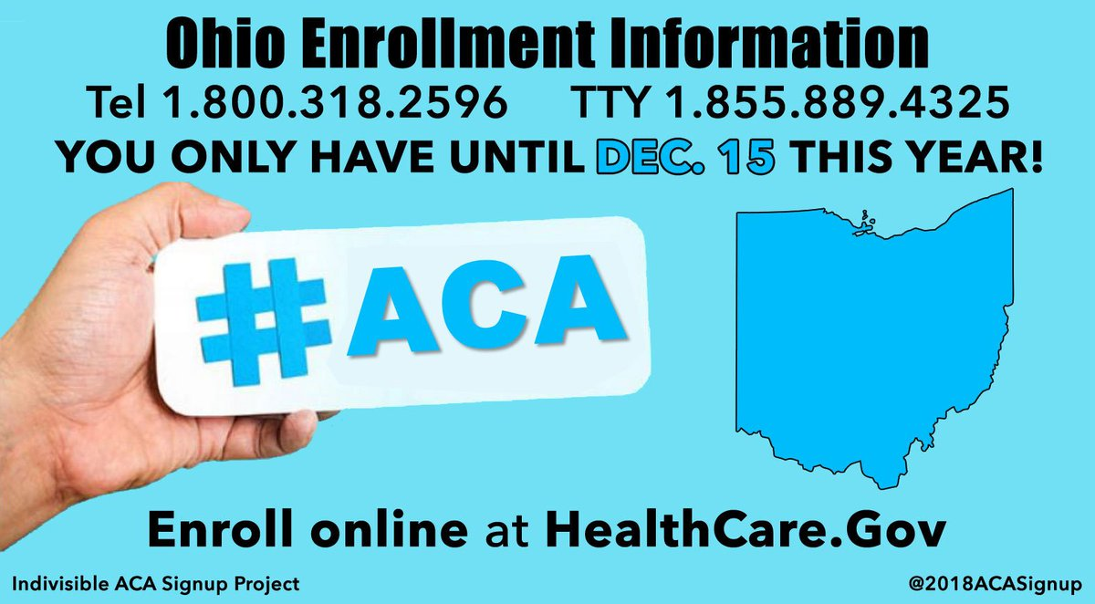 RT @planetscape: OHIO: You only have until 12/15/17 to #GetCovered! #ACA #Obamacare https://t.co/SF9QdjOFGU #Ohio #OH