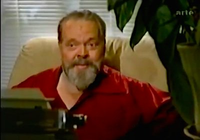 """Watch the rare Orson Welles short THE SPIRIT OF CHARLES LINDBERGH, a 1984 """"get well card"""" for an ailing friend #OrsonWelles 