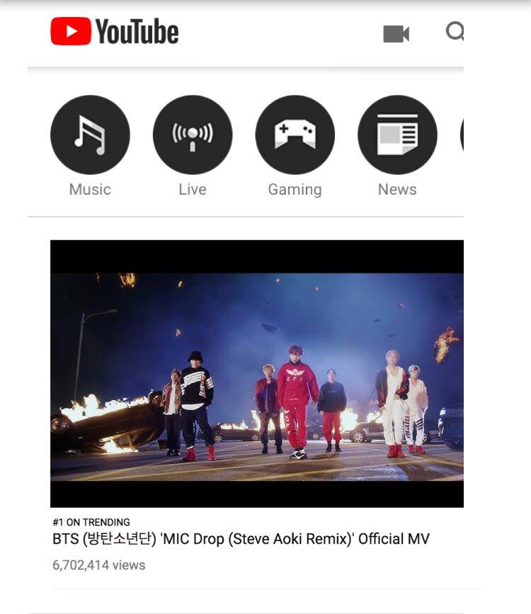 #1 on Trending YouTube!!! 🔥⚡️🔥 #micdropremix