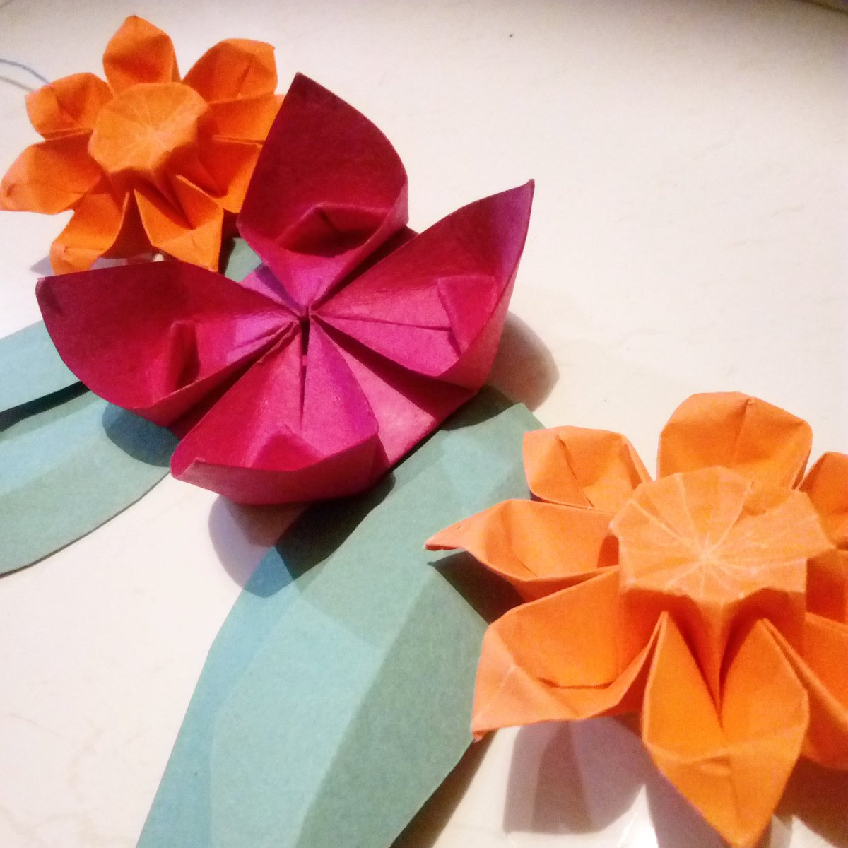 Samir bharadwaj on twitter stringing together the leaves and the it manages to look quite traditional while being that little bit different papercraft origami diy flowers designer diwalipicitterepyxoy8fcu mightylinksfo
