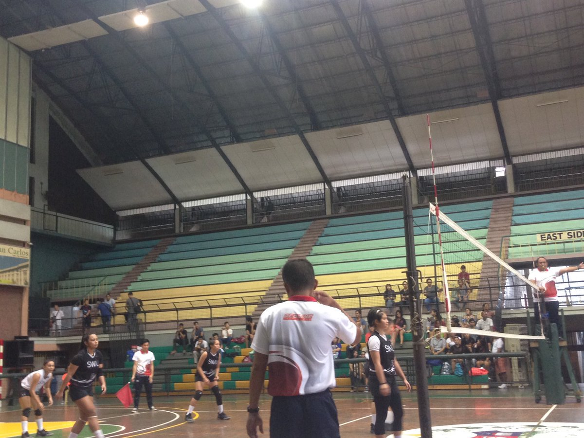 Cebu Daily News NOW Game 2 Of The Cesafi Womens Volleyball Finals Between USJ R And SWU Phinma At USC Main Gym Leads