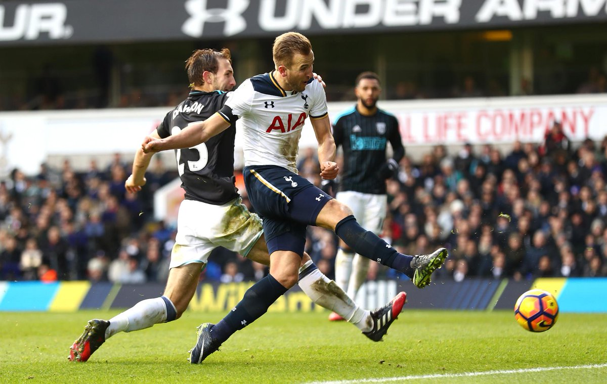 Image result for harry kane hattrick west bromwich 2017