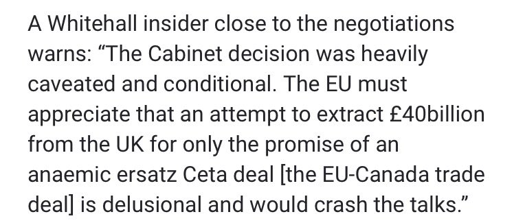 Alarming that UK cabinet still hasn't grasped that Brexit bill is price of orderly exit, not payment for FTA.