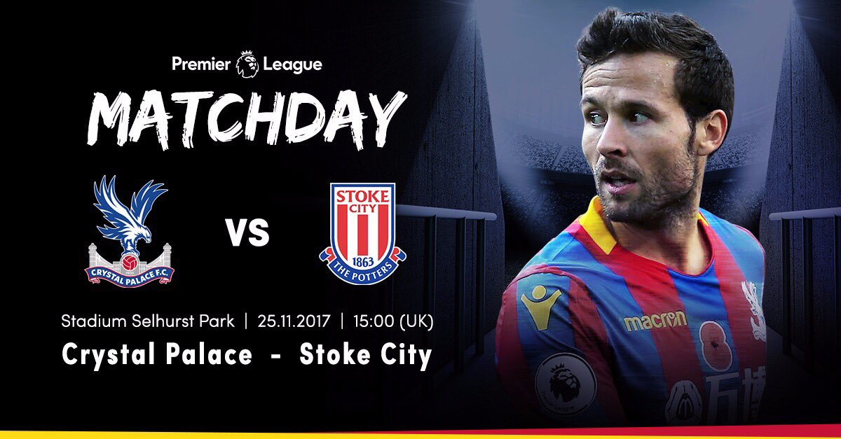 Matchday @CPFC - @stokecity 🔴🔵 #PremierLeague #crysto #rednbluearmy #eagles #cpfc https://t.co/mXJ1rPaRAm