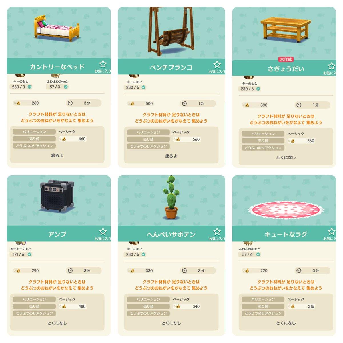 作り値より売値が高いのをまとめてみた これで、タヌキと商売できるでござる  #ぽけ森