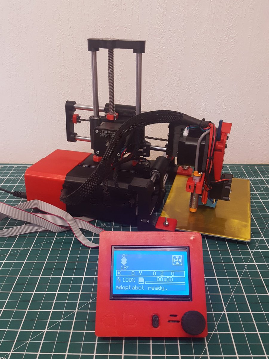 Ok now time to setup fw and try and get a print out @printrbot #adoptabot #3dpri...