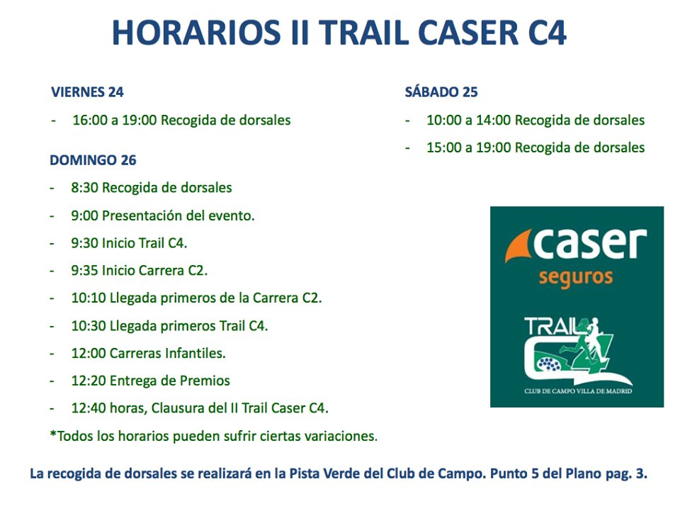 Trail C4 On Twitter Informacion Fundamental Para Manana D