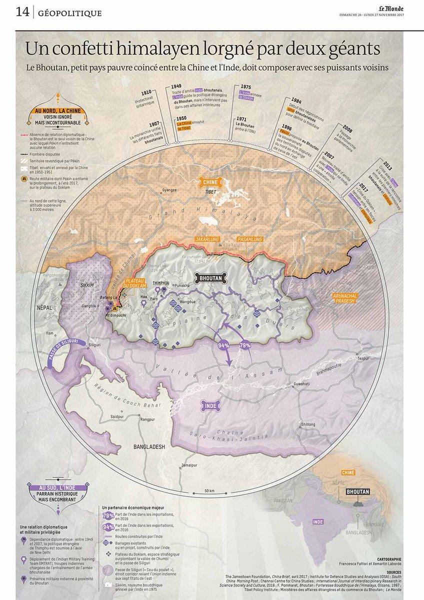 Le Monde En Cartes On Twitter Le Bhoutan Funambule Entre