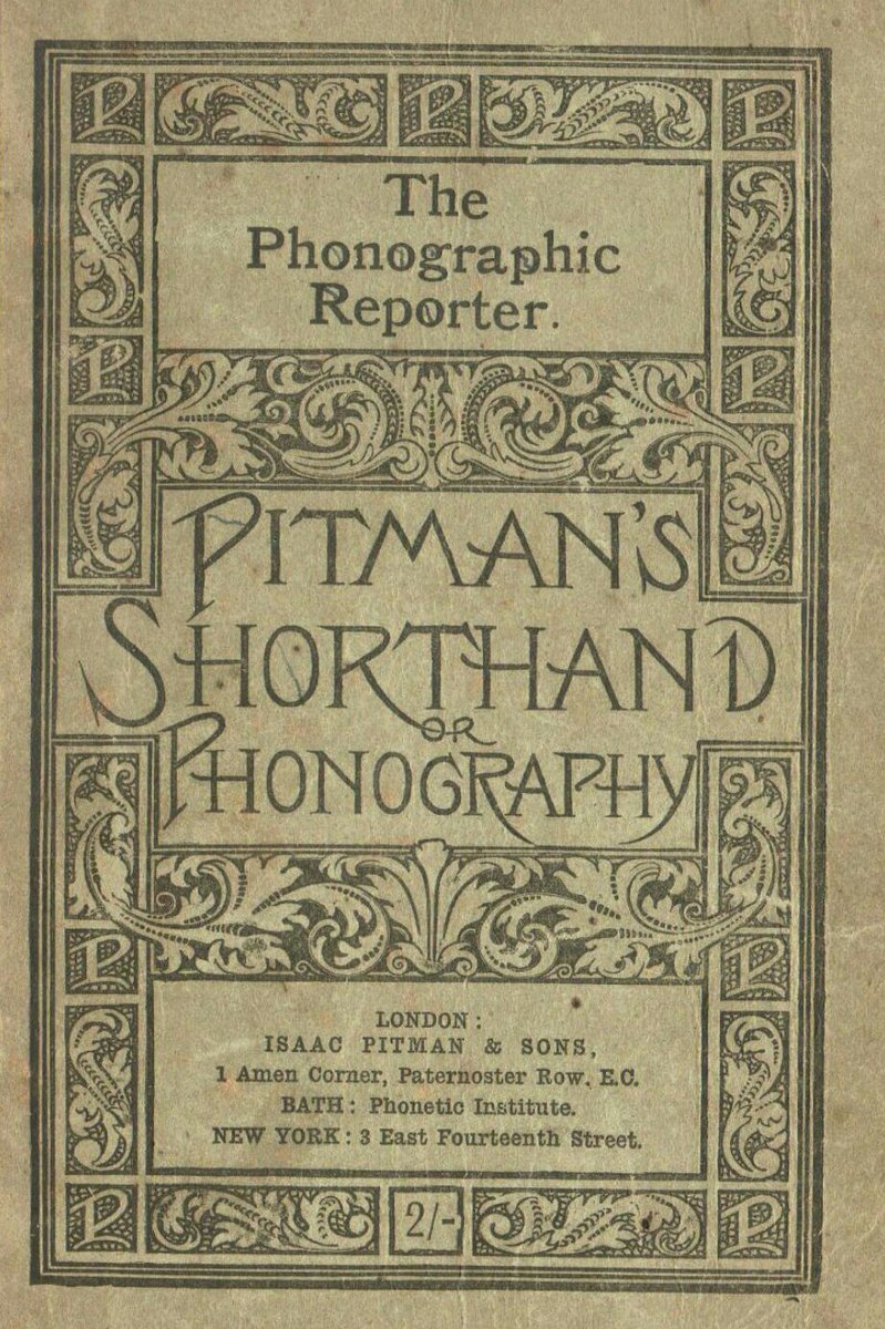 Pulp librarian on twitter in 1837 isaac pitman introduced pulp librarian on twitter in 1837 isaac pitman introduced phonographic shorthand symbols representing sounds it led to a victorian craze of writing in biocorpaavc Gallery