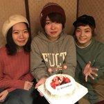 日付変わって本日11/26、無事に23歳になりましたー!!!ということで先ほどサプライズで朝子と松岡…