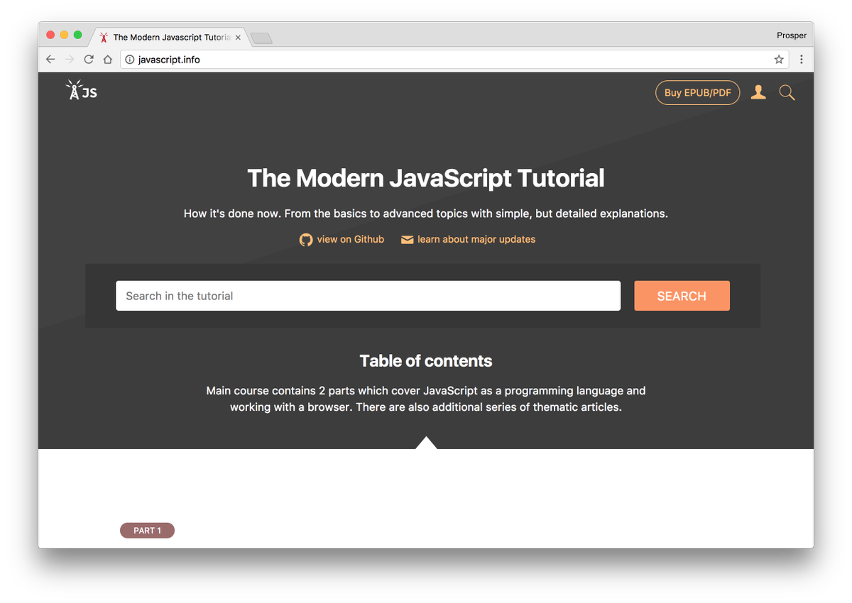 """prosper otemuyiwa 🔥 on twitter: """"🚀 tip: learn javascript from the"""