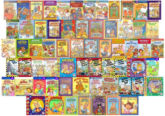 Happy 72nd birthday Marc Brown! Look at how many Arthur books the library has!