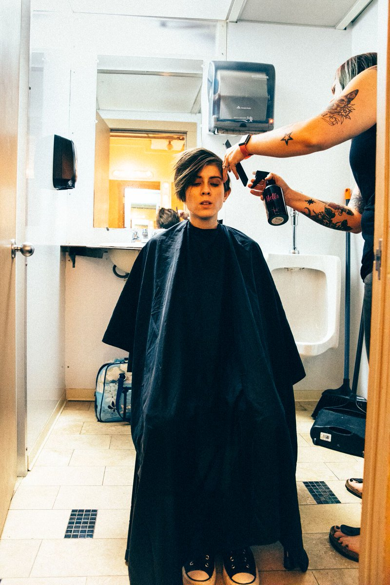 Tegan And Sara On Twitter Pre Show Haircut Theconx