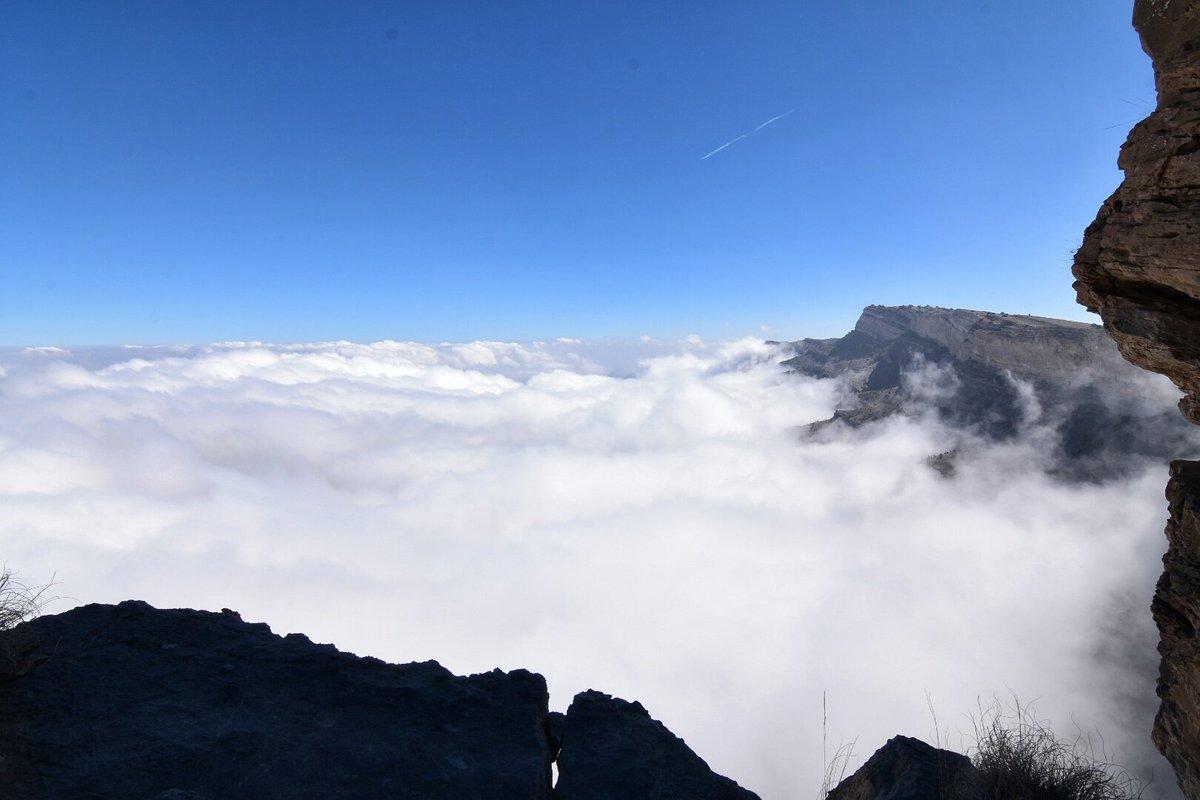 من الإرشيف مشهد الضباب من قمة جبل شمس 25...
