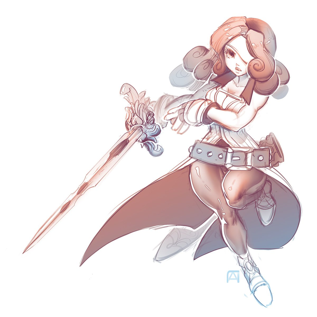 Lpchan On Twitter Sketched A Beatrix From Ff9 3 I Really Want To