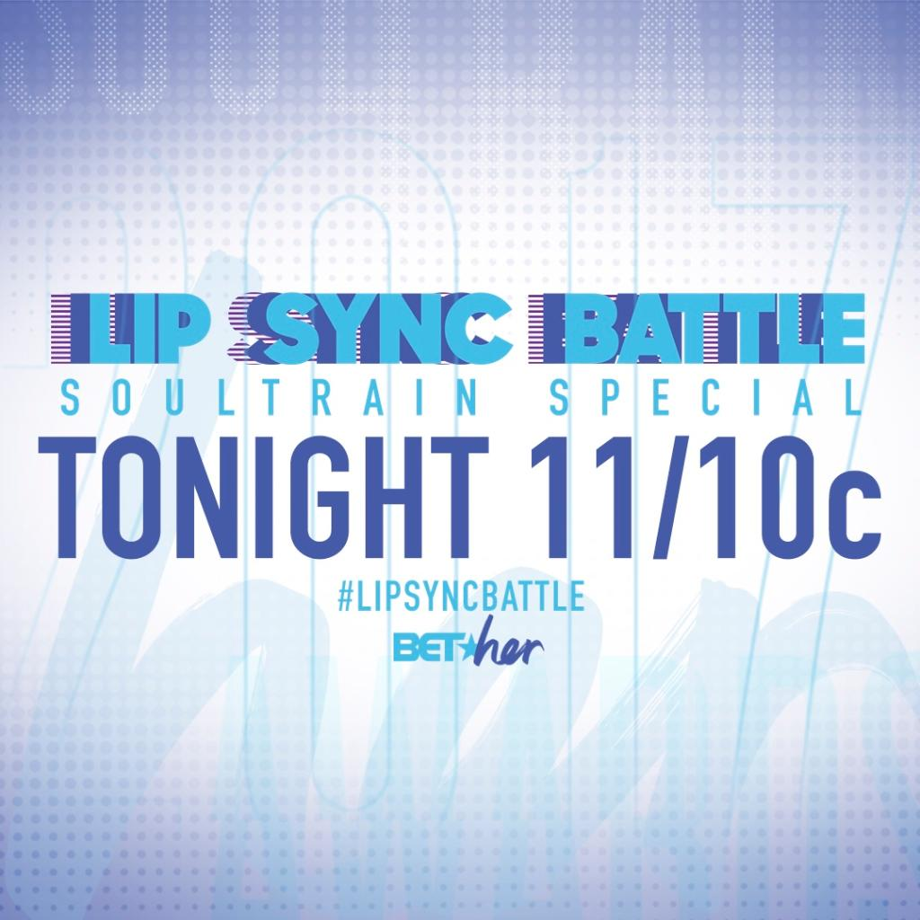 Don't miss @SpikeLSB tonight at 11/10c! We're celebrating the #SoulTrainAwards! #LipSyncBattle