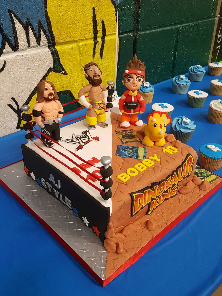 Ian Mc on Twitter Twins birthday cake WWE AJStylesOrg
