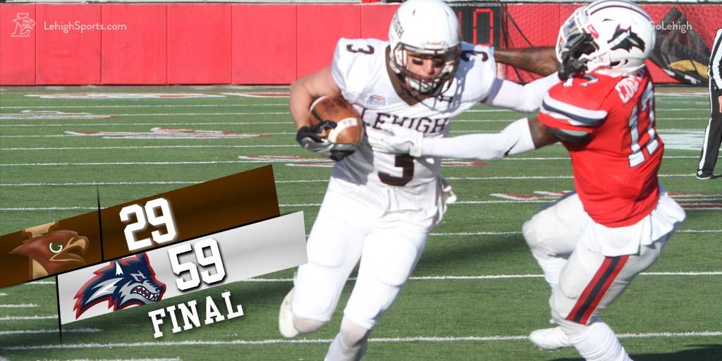 Lehigh Battles Hard, But Gets Blown Out 59-29 To Stony Brook In 1st Round of FCS Playoffs
