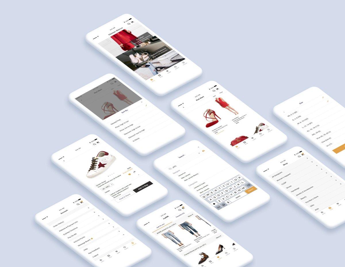 我怎么为高档百货商店 Neiman Marcus 重新设计 iOS App?作者是湾区、学计算机工程、喜欢 UX 设计的中国姑娘 #设计案例 // How I Redesign - Neiman Marcus iOS App  https://t.co/ryLhZZVRDZ https://t.co/CtFNU0UG2q 1