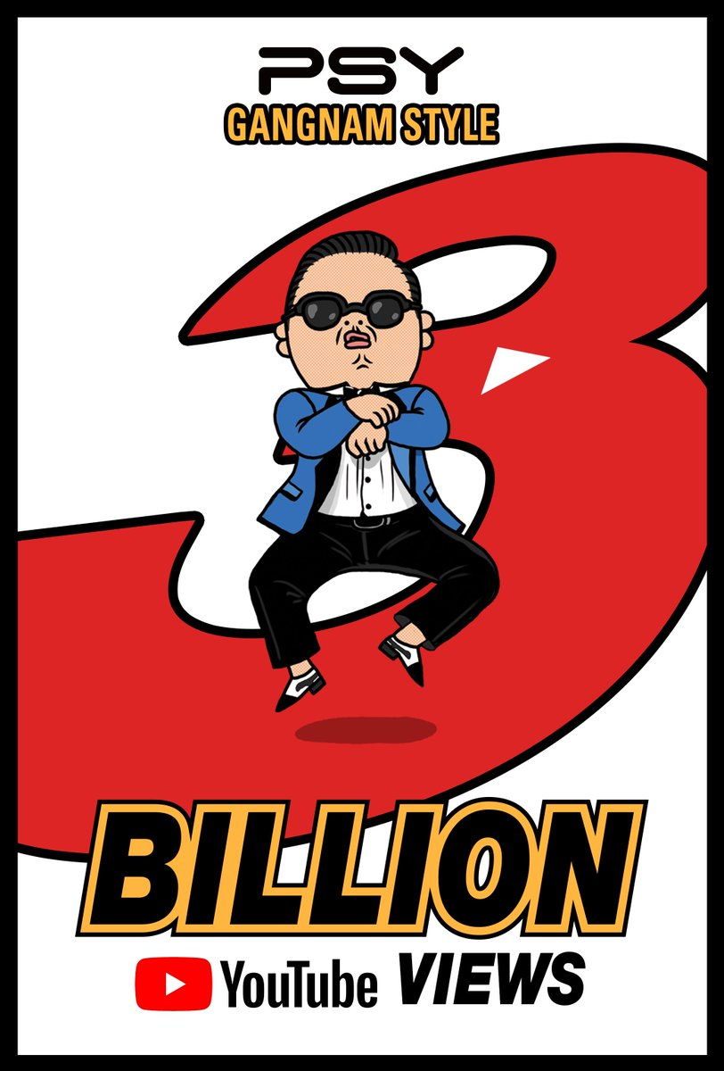 #PSY's '#GANGNAMSTYLE' M/V hits #3Billion Views on @YouTube!  Watch it here ➡️ https://t.co/JRdJPVLHxo  #강남스타일 #YG