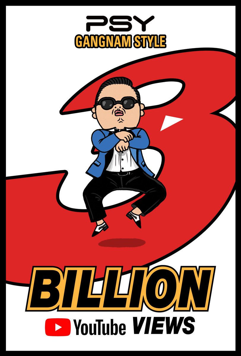 #GANGNAMSTYLE got 3 billion views!! THX  #PSY #싸이 #강남스타일 #GANGNAMSTYLE #MV #3BILLION #YOUTUBE #YG
