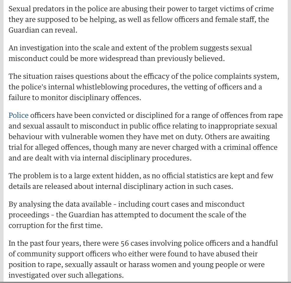 Public confidence is non-existent when numbers rise of Police sexually  abusing vulnerable women. GET IT SORTED ! (My friend a  victim).pic.twitter.com/ ...