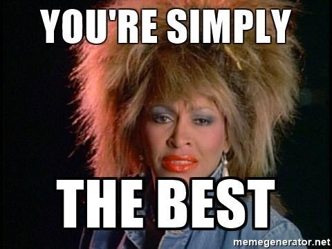 Happy birthday, the Greatest World Rock Star, Tina Turner!