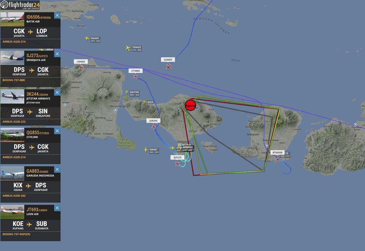 KLM flights Singapore-Denpasar-Singapore cancelled on 26 November ...