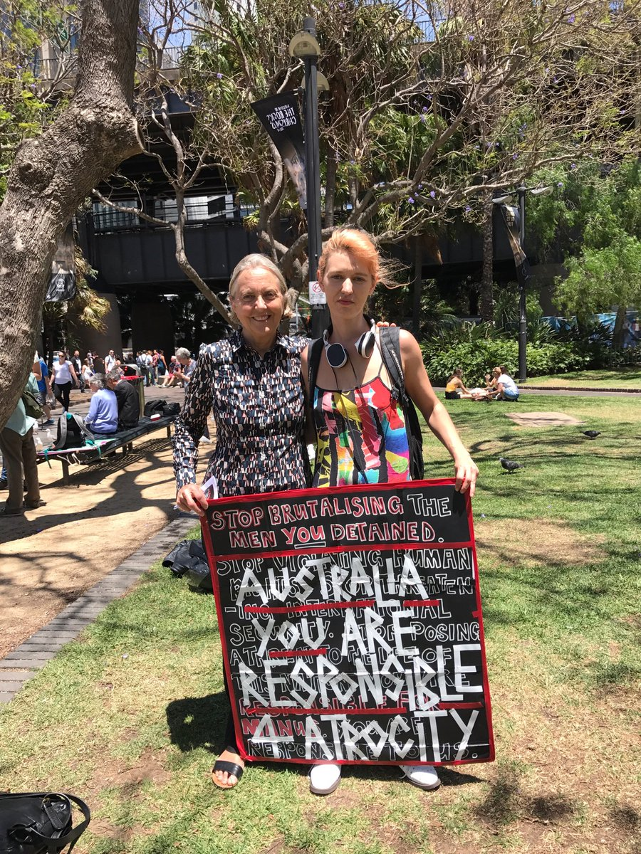 Sydney mass rally for Manus Is refugees. So much concern. Strong message #EvacuateNow #BringThemHere #SOSManus