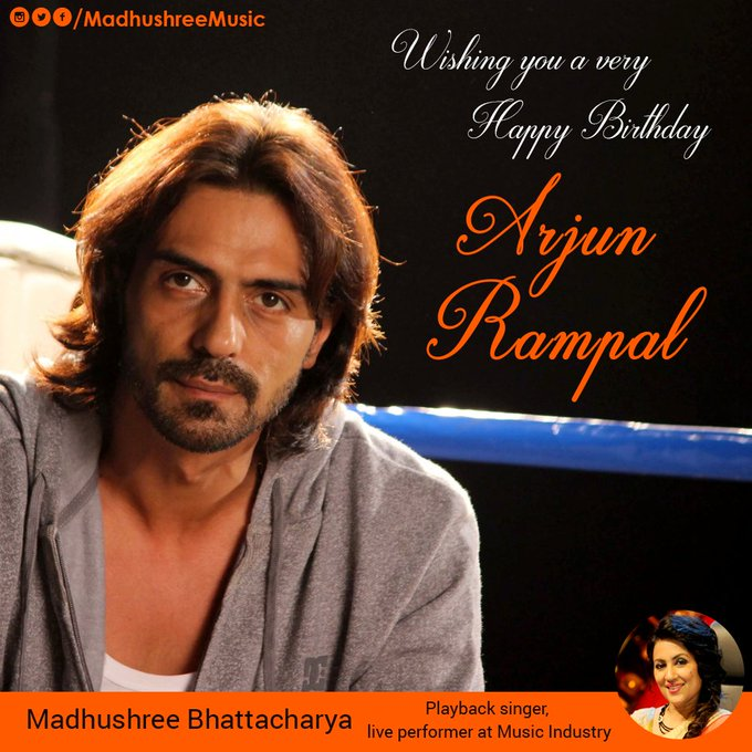 Wishing you a very Happy Birthday handsome and talented ! Happy Birthday Arjun Rampal