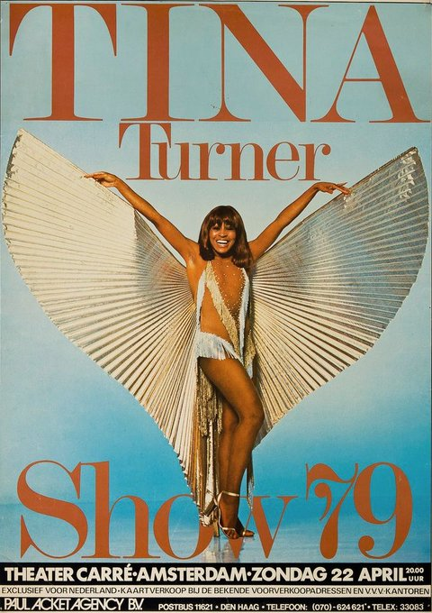 Happy birthday to Tina Turner, 78 today. Next year in Amsterdam!