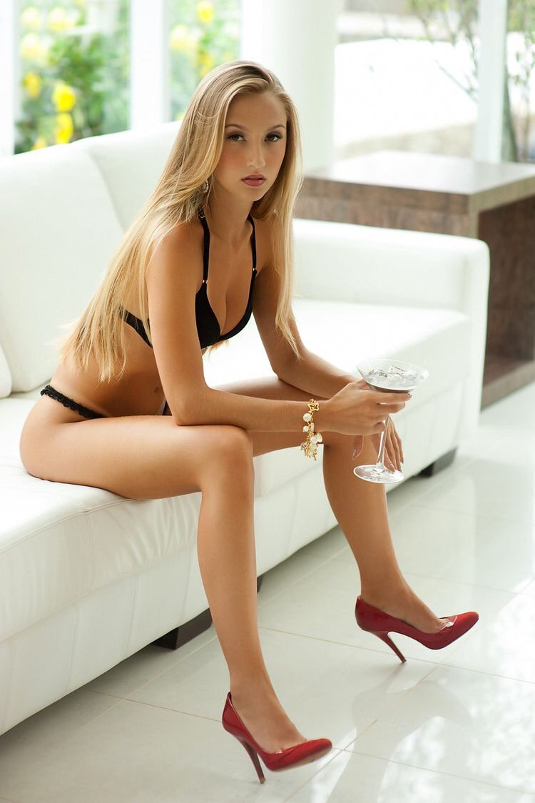Young girl with beautiful legs stock image