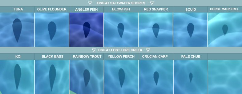 ªードリーaudrey On Twitter I Saw A Japanese Tweet That Showed The Current Fish Shadow Sizes For Each Fish In Animalcrossingpocketcamp And Translated The Names For Each Fish Into English Hope This Helps 13th century manuscript fisho es having a friendly ol time witth the pals. オードリーaudrey on twitter i saw a