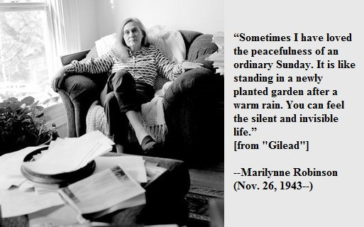 Happy birthday, Marilynne Robinson!