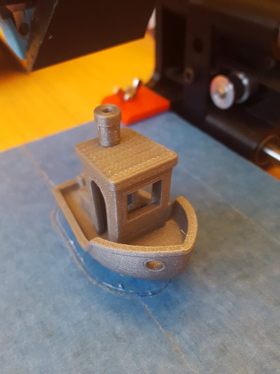 Well that happened  @printrbot #adoptabot #3dbenchy ...