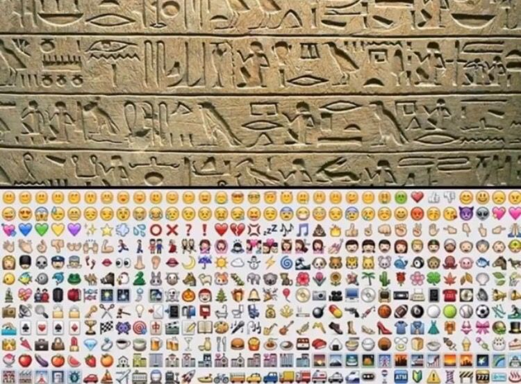 5000 years later and we're back to the same language. #emoji #smm