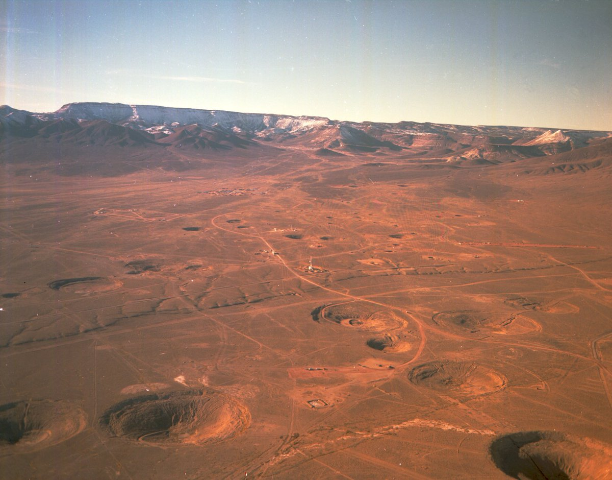 Casillic On Twitter Aerial Photo Of The Nevada Test Site Scared With Nuclear Test Craters From Years Of Under Ground Tests Nts Nukes