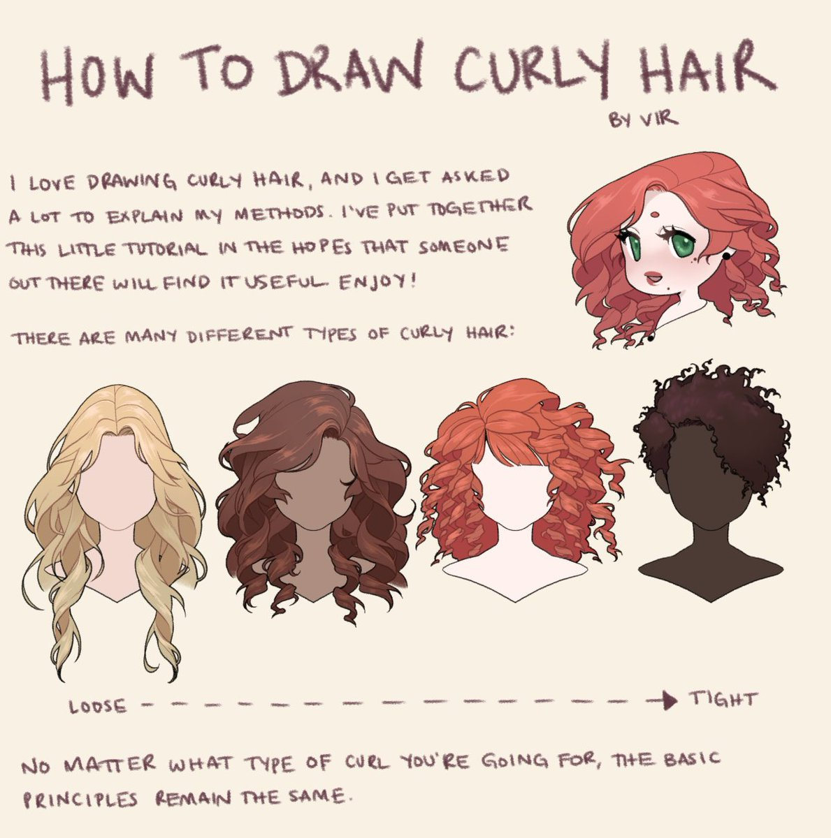 apomix on twitter i get asked a lot how i draw curly hair so i